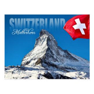 Das Matterhorn, die Schweiz Postkarte