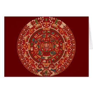 Das Maya (aztekische) Kalender-Rad Karte