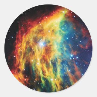 Das Medusa-Nebelfleck Hubble Weltraum-Foto Runder Aufkleber