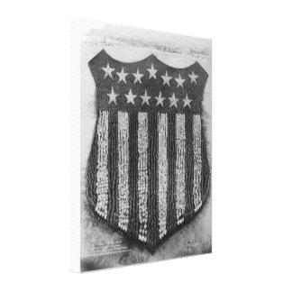 Das menschliche US-Schild an Lager/Fort Custer Leinwanddruck