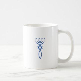 Das messianische jüdische Siegel von Jerusalem Kaffeetasse
