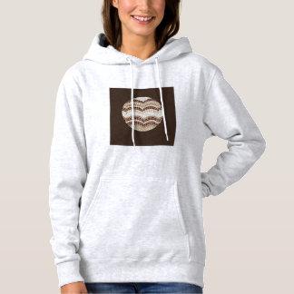 Das mit Kapuze Sweatshirt der runden beige