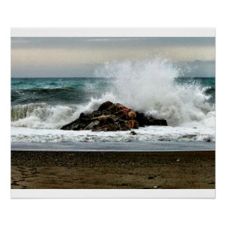 Das Mittelmeer nach einem Sturm Poster