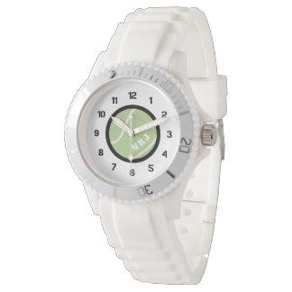 Das Monogramm-Tennis-Uhr-Silikon-Armband der Uhr