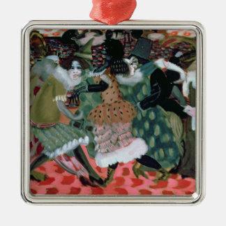 Das Morte-Saison in Paris, 1913 Quadratisches Silberfarbenes Ornament
