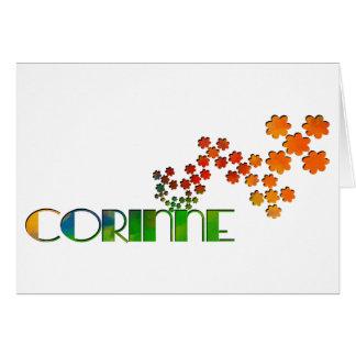 Das Namensspiel - Corinne Karte