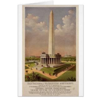 Das nationale Washington-Monument 1885 Karte