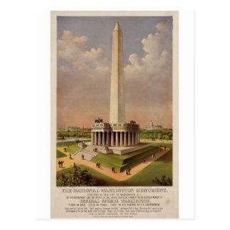 Das nationale Washington-Monument 1885 Postkarte