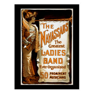 """Das Navassars"" Vintager Vaudeville Postkarte"