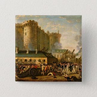 Das Nehmen der Bastille, am 14. Juli 1789 Quadratischer Button 5,1 Cm