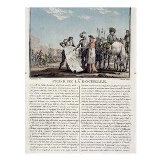 Das Nehmen von La Rochelle von den Protestanten, Postkarte