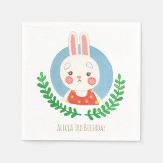 Das niedliche Kaninchen Papierserviette