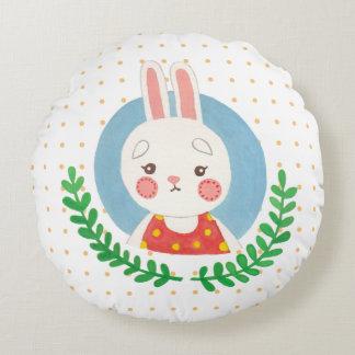 Das niedliche Kaninchen Rundes Kissen