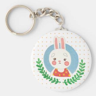 Das niedliche Kaninchen Schlüsselanhänger