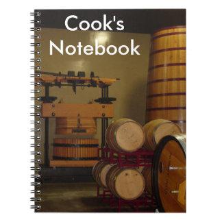 Das Notizbuch des Kochs Notizblock