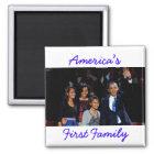 Das Obamas: Amerikas 1. Familien-Magnet Quadratischer Magnet