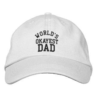 Das Okayest der Welt lustiger Hut des Vatertags Besticktes Cap