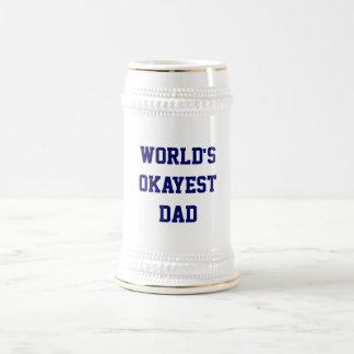 Das Okayest der Welt Vati Stein Bierglas