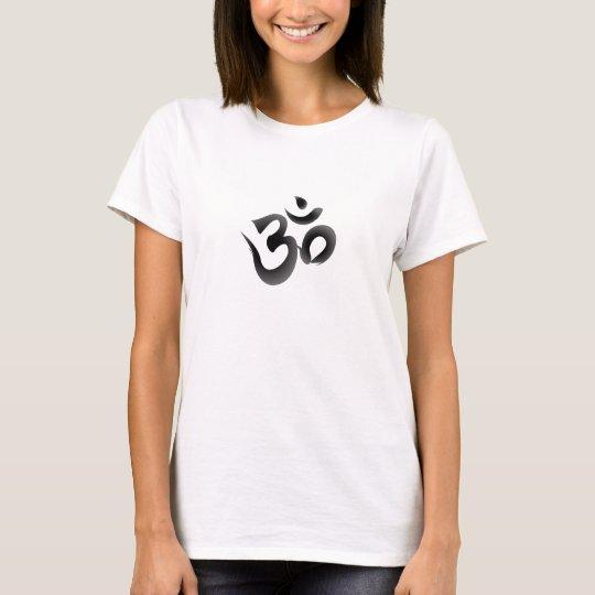 Das Om-Yoga-T - Shirt der Frau