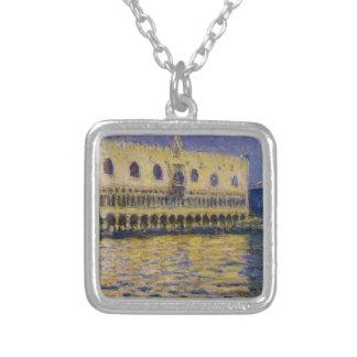 Das Palazzo Ducale 2 durch Claude Monet Versilberte Kette