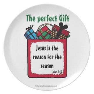 Das perfekte Geschenk-Weihnachten Melaminteller