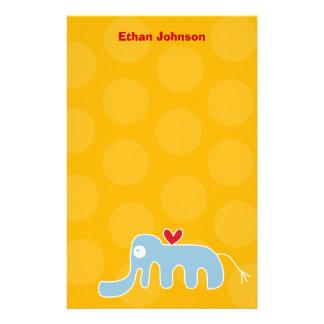 Das persönliche Cartoon-Elefant-Kind danken Ihnen Briefpapier