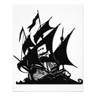 Das Piraten-Bucht-Logo-Schiff
