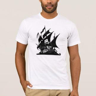 Das Piraten-Bucht-Logo-Schiff T-Shirt