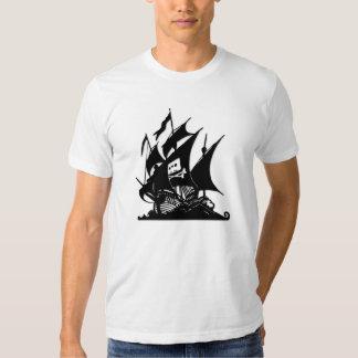 Das Piraten-Bucht-Logo-Schiff Tshirts