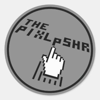 Das PixlPshr Logo Runder Aufkleber