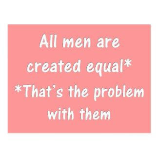 Das Problem mit Männern Postkarte