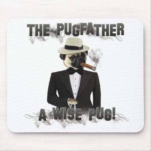 Das Pugfather - ein kluger Mops - Mousepad