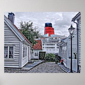 Das QE2 in Stavanger Poster