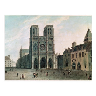 Das Quadrat vor Notre-Dame Postkarte
