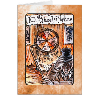 Das Rad der Vermögens-Tarot-Karte Karte