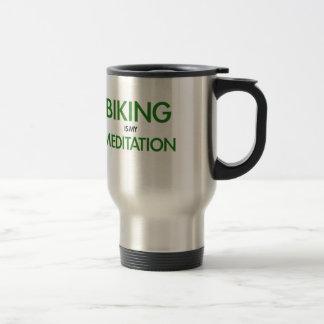 Das Radfahren ist meine Meditation Reisebecher