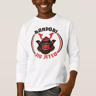 Das Randori Jiu Jitsu der Kinder langer Hülsen-T - T-Shirt