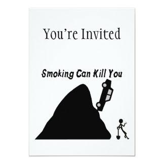 Das Rauchen kann Sie töten 12,7 X 17,8 Cm Einladungskarte
