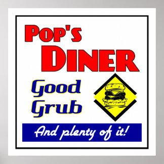 Das Restaurant-Retro Restaurant-Druck des Pops Plakat
