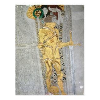 Das Ritterdetail des Beethoven-Frieses Postkarte