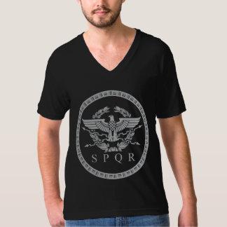 Das römisches Reich-Emblem V-Hals T-Shirt