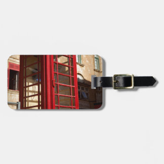Das rote Telephonebox Gepäckanhänger