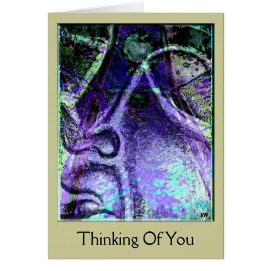Das Ruhe-blaue Denken an Sie kardieren Karte