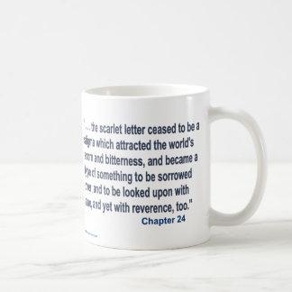 Das Scharlachrot Buchstabe-Text- Kaffeetasse