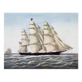 """Das Scherer-Schiff """"Fliegen-Wolke """" Postkarte"""