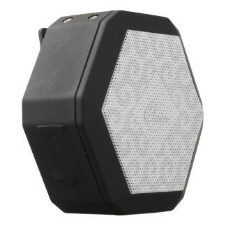 Das schicke Monogramm des Mädchens, Silber u. Schwarze Bluetooth Lautsprecher