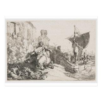 Das Schiff des Vermögens durch Rembrandt Postkarte