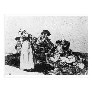 Das schlechteste ist, durch Francisco Goya zu Postkarte