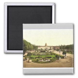 Das Schloss, Karlsruhe, Baden, Deutschland Quadratischer Magnet