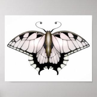 Das Schmetterlings-Projekt - goldener Poster